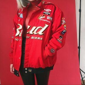 VTG Budweiser NASCAR Pit Crew Denim Jacket